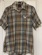 Levis Plaid Shirt Vintage Ultra Lightweight Rockabilly Western Ranch Wear Sz M