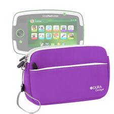 """Purple Neoprene Zip Case For Leapfrog LeapPad Platinum 7"""" Tablet w/ Front Pocket"""
