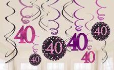 Pink Celebration 40th Prismatic Pennant Banner 4m