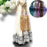 Fringe Tie Holdback Buckles Window Curtain Tiebacks Crystal Tassel Beaded