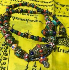 DEVIL SEX Tibetan Buddhism inlay Red Coral necklace TALISMAN MONEY LOVE AMULET