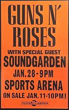 GUNS N ROSES - SOUNDGARDEN -TOUR POSTER - SLASH - AXL ROSE - DUFF - SPORTS ARENA