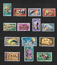 Nigeria, 1965 QEII pictorials complete set used (7653)
