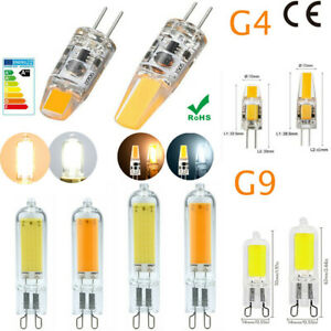 2-10pcs G4 G9 3W 2W Dimmable LED COB Bulbs 12V Replacement Lamps Pin Base Bulbs