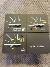 Alfa Romeo Milano GTV Gas, Oil, Water Temp Gauge Cluster. 00607-41193-0000. New