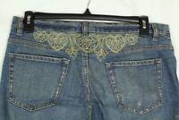 X2 Women's Jeans Boot Cut Embellished Denim Size 12