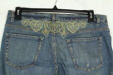 X2 Womens Jeans 12 Boot Cut Embellished Denim