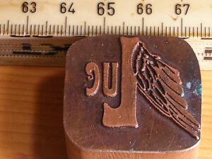 luc   LOGO schöner Oldtimer Stempel / Siegel aus Metall