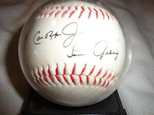 "Cal Ripken Jr. & Lou Gehrig Commemorative Baseball ""Ironmen of Baseball"""