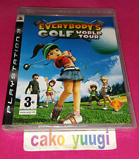 EVERYBODY'S GOLF WORLD TOUR SONY PS3  NEUF SOUS BLISTER VERSION 100% FRANCAISE
