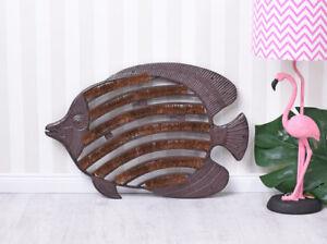 Fussmatte Fisch Türmatte Gusseisen Fussabtreter Landhausstil Bodenmatte 40x60cm