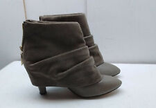 Matiko Gray Blue Suede Ankle Boot Back Zip Bootie Casual Dress Women Shoes 8M 39