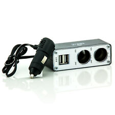 Auto KFZ Adapter 2-fach 12V Verteiler Zigarettenanzünder Steckdose 2x USB Port