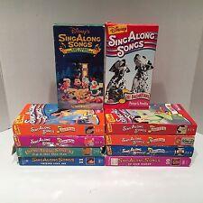 Disney Sing Along Songs Lot Of 10 Different Children's VHS Cassette Tapes #2