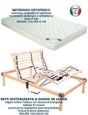 RETE ELETTRICA A DOGHE IN LEGNO MOTORIZZATA  + MATERASSO ORTOPEDICO 120x190
