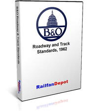 B&O Roadway & Track Standards, Baltimore & Ohio Plans - PDF on CD - RailfanDepot