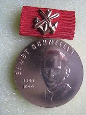 East German Ernst Schneller Medal Bronze Award