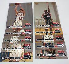 "1996 Upper Deck Men's USA Basketball 5"" x 7"" 10 Card Olympic Team Card Set"