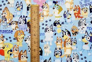 Custom Cotton Woven Bluey Dog Cartoon by the 1/4 Yard SHIPS FAST!