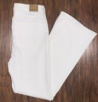 American Eagle Women's Super Stretch Highest Rise Flare White Jeans Size 10 NWT