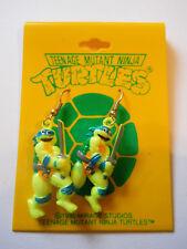 vintage 1990 Teenage Mutant Ninja Turtles earrings Leonardo Tmnt