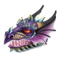 Purple Dragon Head Treasure Chest Trinket Stash Box