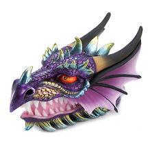 DRAGONS: Purple Dragon Head Treasure Chest Trinket stash Box NEW
