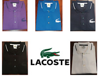 Lacoste Mens Semi Fancy Pique Polo Large Croc, Regular-Fit, NWT