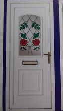 rosa  resin lead door £440 includes fitting and chrome furniture