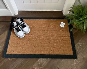 Large Doormat With Charcoal Border