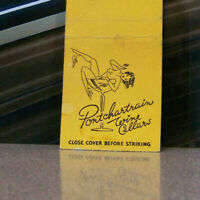 Vintage Matchbook Cover O3 Detroit Michigan Pontchartrain Wine Cellars Pin Up