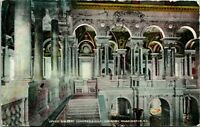 Vtg Postcard 1909 Upper Gallery Congressional Library Washington DC - UNICO pub