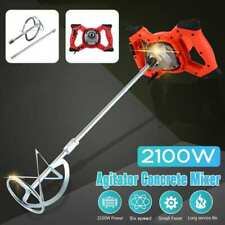 New Listing2100w 6 Speed Mixer Paint Cement Plaster Mortar Coating Powder Mixing Machine Us