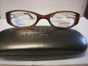 JG HOOK EYEGLASS FRAMES Style SUSAN in Brown   Sz. 50-19-135   Free  CASE