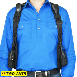 Double Radio Holster Harness - Black - Two Ants Ghost SE000DBK