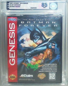 -Sealed- 1995 -Batman Forever- VGA 85 SEGA Genesis Graded Video Game - NOS