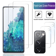 2-Pack For Samsung Galaxy S20 FE 5G Tempered Glass/Camera Lens Screen Protector