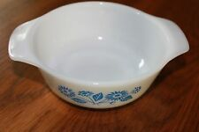 Anchor Hocking Fire King 12 oz. Casserole Dish  #472 Blue Cornflower