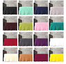 Plain Dyed Frilled Poly Cotton BASE VALANCE Sheets or Fitted Box VALANCE Sheets