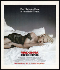 MADONNA : TRUTH OR DARE__Original 1991 print AD / movie promo__advertisement