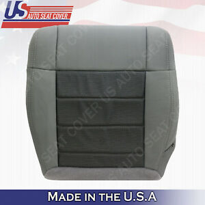 2007 to 2010 Jeep Wrangler Sahara SUV Driver Side Bottom Cloth Seat Cover Gray