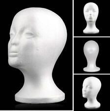 Female Head Model Wig hair Hat Display Styrofoam Foam Mannequin Manikin Holder