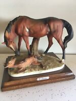 Authentic Giuseppe Armani Mare & Foal vintage horse collections ornament