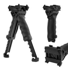 1pcs Retractable Leg Swivel Bipod Tactical Hunting Foregrip Fore Grip Adjustable