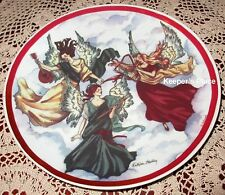 Kathleen O'Malley Crowne Porcelain Angel Collectible Plate Artmark Chicago COA