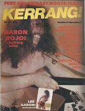 KERRANG! #27 OCT 1982: BARON ROJO Aerosmith JOHN COUGAR Rush NEIL YOUNG Genesis
