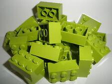 ++  LEGO BASICS   25   Bausteine  2 x 3  Noppen in hellgrün  NEU  ++