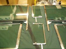 1955 CHEVROLET 2 DOOR HARDTOP 6 PC. SIDE GLASS SET COMPLETE FACTORY GREEN TINT