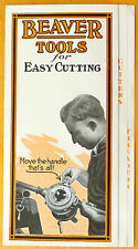 1917 Beaver Tools Easy Cutting Flyer