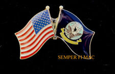US NAVY BATTLE COLORS FLAGS LAPEL HAT PIN UP VETERAN GRADUATION RETIREMENT GIFT
